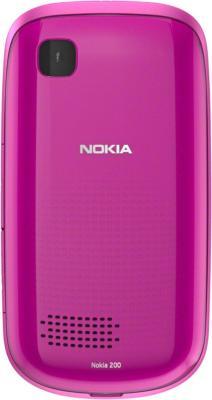 Мобильный телефон Nokia Asha 200 Pink - задняя панель