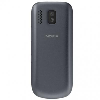 Мобильный телефон Nokia Asha 202 Dark Gray - сзади