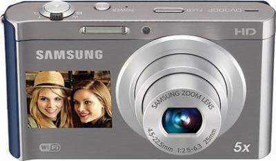 Компактный фотоаппарат Samsung DV300F (EC-DV300FBPURU) Silver-Blue - общий вид