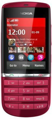 Мобильный телефон Nokia Asha 300 Red - общий вид