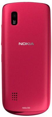 Мобильный телефон Nokia Asha 300 Red - задняя панель