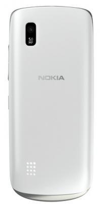 Мобильный телефон Nokia Asha 300 Silver-White - задняя панель