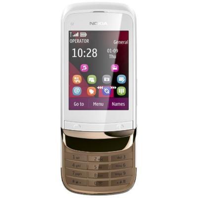 Мобильный телефон Nokia C2-03 Golden White - спереди