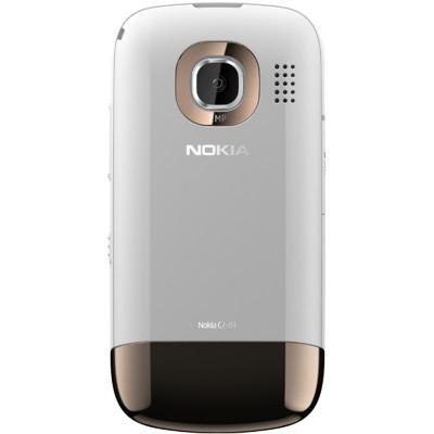Мобильный телефон Nokia C2-03 Golden White - сзади