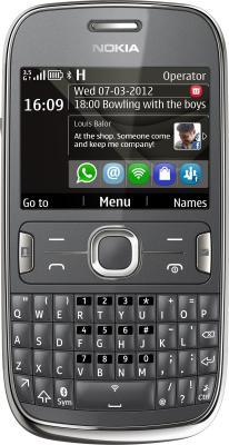 Мобильный телефон Nokia Asha 302 Dark Gray - общий вид