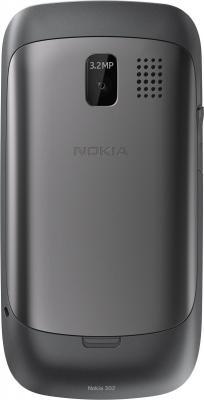 Мобильный телефон Nokia Asha 302 Dark Gray - задняя панель