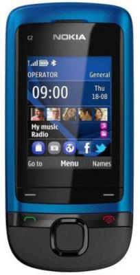 Мобильный телефон Nokia C2-05 Peaco - спереди