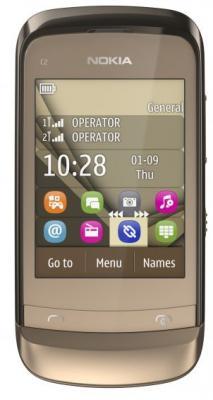Мобильный телефон Nokia C2-06 Golden Buff - спереди