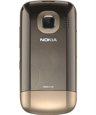 Мобильный телефон Nokia C2-06 Golden Buff - сзади