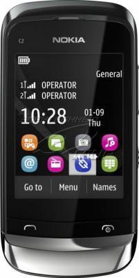 Мобильный телефон Nokia C2-06 Graphite - общий вид