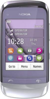 Мобильный телефон Nokia C2-06 Lilac - общий вид