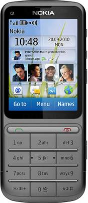 Мобильный телефон Nokia C3-01.5 Warm Gray - вид спереди