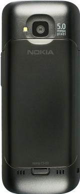 Смартфон Nokia C5-00.2 All-Black - вид сзади