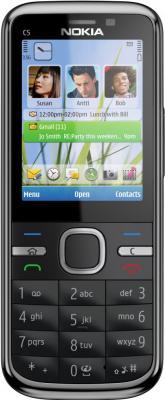 Смартфон Nokia C5-00.2 All-Black - вид спереди