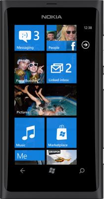 Смартфон Nokia Lumia 800 Matt Black - общий вид