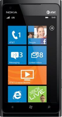 Смартфон Nokia Lumia 900 Black - общий вид