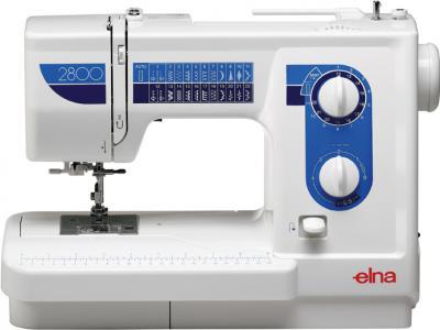 Швейная машина Elna 2800 - общий вид голубой цвет - наличие цветов уточняйте