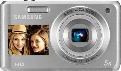 Компактный фотоаппарат Samsung DV100 (EC-DV100ZBPSRUA) Silver - вид спереди