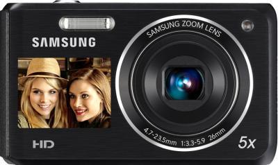 Компактный фотоаппарат Samsung DV100 (EC-DV100ZBPBRUA) Black - вид спереди