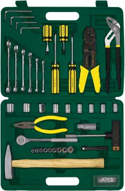 Универсальный набор инструментов RBT HY-T52 (52 предмета) - общий вид