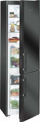 Холодильник с морозильником Liebherr CBNb 3913 - с полуоткрытой дверцой