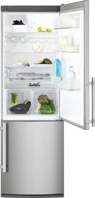 Холодильник с морозильником Electrolux EN3450AOX - вид спереди