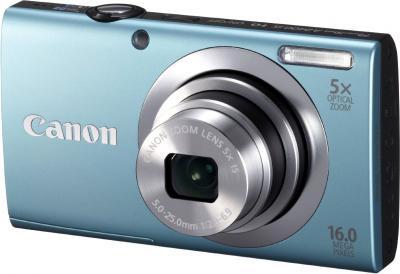 Компактный фотоаппарат Canon PowerShot A2400 IS Blue - общий вид