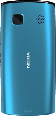 Смартфон Nokia 500 Black-Azur - задняя панель