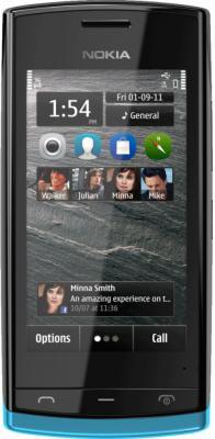 Смартфон Nokia 500 Black-Azur - общий вид