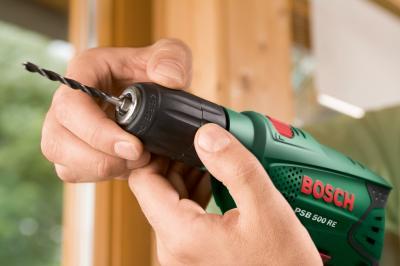 Дрель Bosch PSB 500 RE (0.603.127.020) - в работе