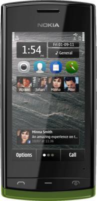 Смартфон Nokia 500 Black-Khaki - общий вид