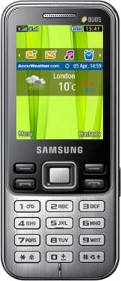 Мобильный телефон Samsung C3322 Dual (черный) - общий вид