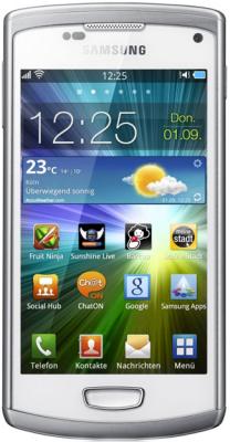 Смартфон Samsung S8600 Wave III White (GT-S8600 WSASER) - спереди