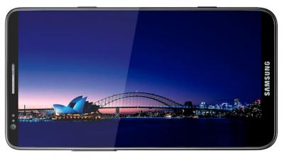 Смартфон Samsung Galaxy S III / I9300 (голубой) - повернут