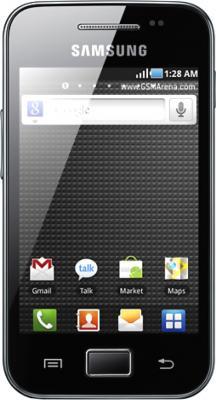 Смартфон Samsung S5830 Galaxy Ace Black Glossy (GT-S5830 OKISER) - общий вид