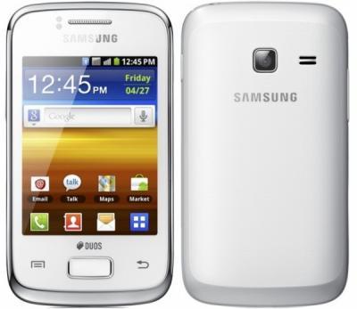 Смартфон Samsung S6500 Galaxy Mini 2 White (GT-S6500 RWDSER) - спереди и сзади