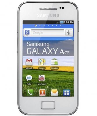 Смартфон Samsung S5830 Galaxy Ace White (GT-S5830 UWISER) - спереди