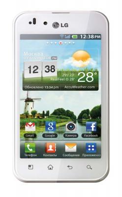 Смартфон LG E510 Optimus Hub White - спереди
