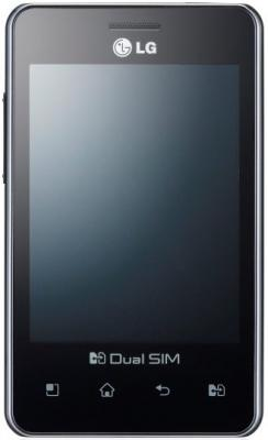 Смартфон LG Optimus L3 Dual / E405 (черный) - спереди