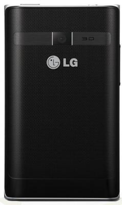 Смартфон LG Optimus L3 Dual / E405 (черный) - сзади