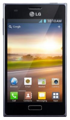 Смартфон LG E612 Optimus L5 Black (LG-E612 ACISBK) - спереди
