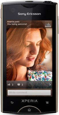 Смартфон Sony Ericsson Xperia ray (ST18i) Black - общий вид