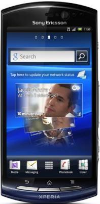 Смартфон Sony Ericsson Xperia neo V (MT11i) Black-Blue - общий вид
