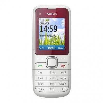 Мобильный телефон Nokia C1-01 Red - спереди