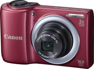 Компактный фотоаппарат Canon PowerShot A810 Red - общий вид