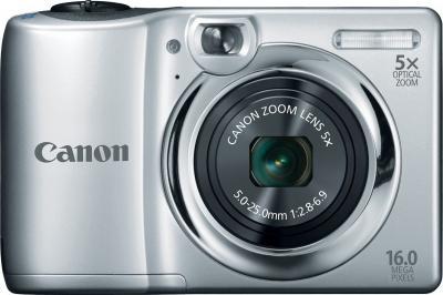 Компактный фотоаппарат Canon PowerShot A1300 Silver - вид спереди