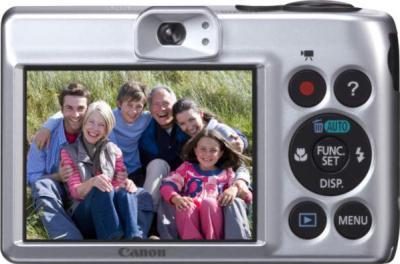 Компактный фотоаппарат Canon PowerShot A1300 Silver - вид сзади