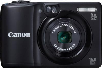 Компактный фотоаппарат Canon PowerShot A1300 Black - общий вид
