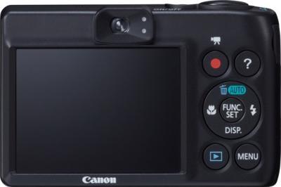 Компактный фотоаппарат Canon PowerShot A1300 Black - вид сзади