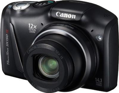 Компактный фотоаппарат Canon PowerShot SX150 IS Black - общий вид